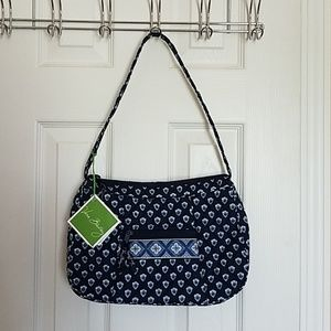 Vera Bradley.  Navy blue Nantucket hobo purse bag